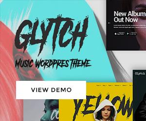 Glytch - A Vibrant Music Theme
