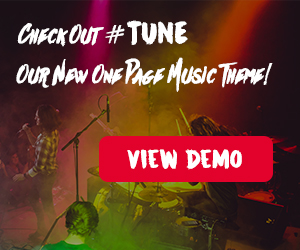 Tune - Multi-Concept One-Page Music WordPress Theme