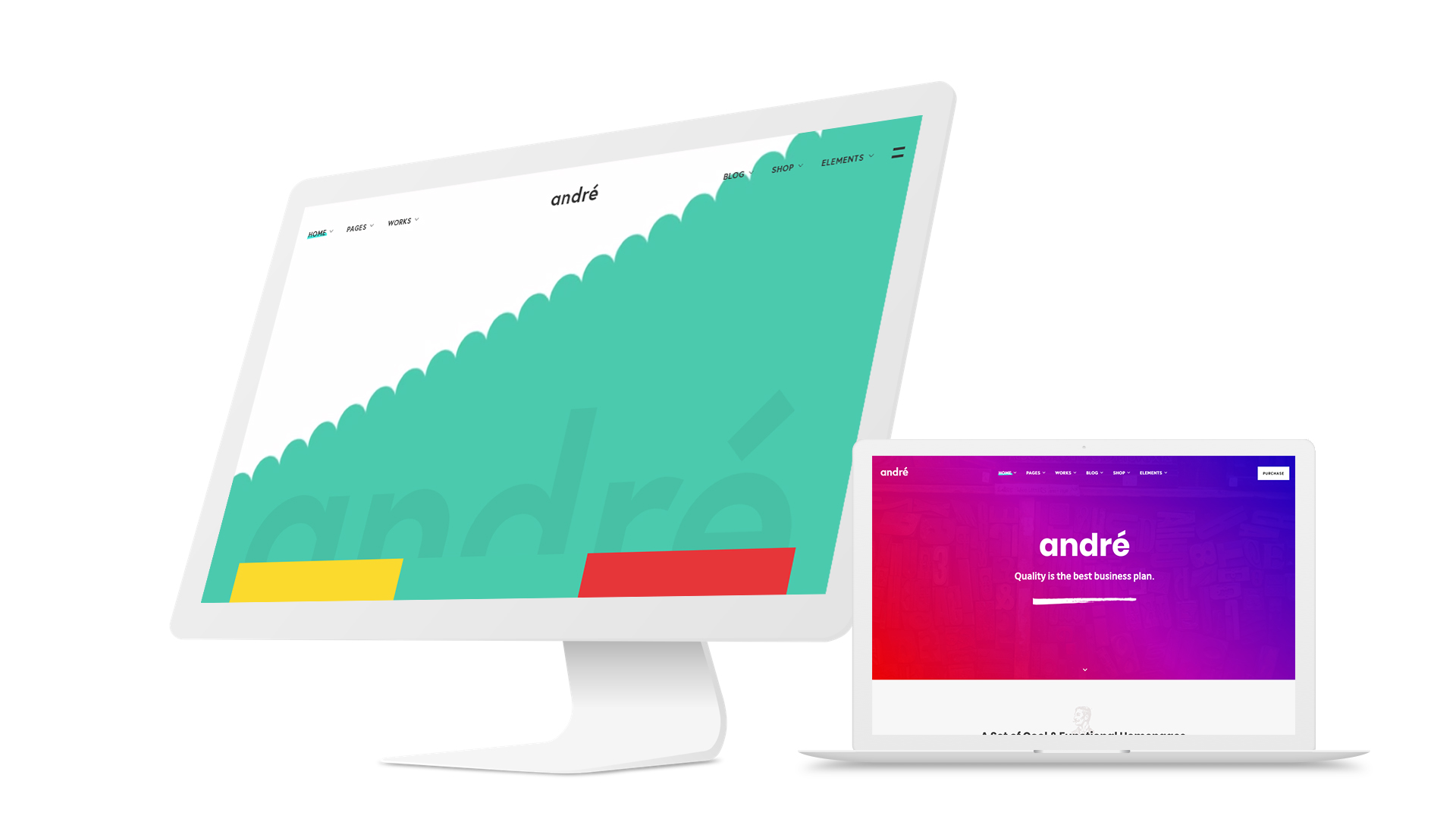 WordPress theme André - A Contemporary WordPress Theme for Small Business Owners and Creatives (Creative)