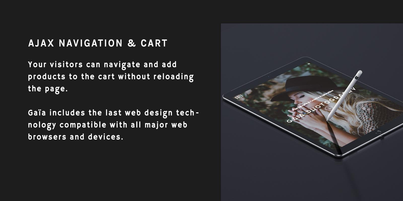 AJAX Navigation AJAX Shopping Cart
