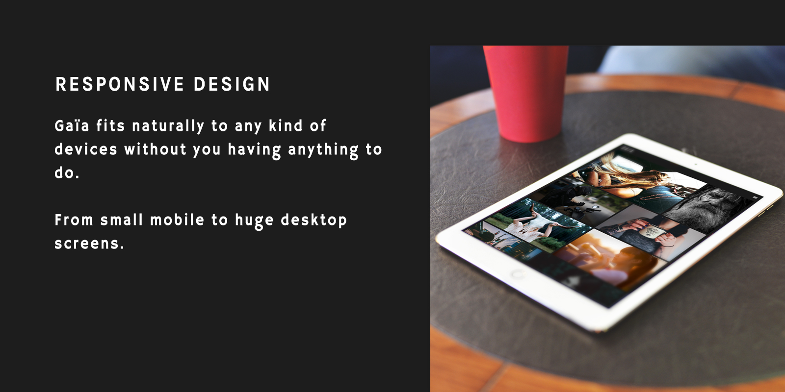Responsive Mobile Tablet Desktop