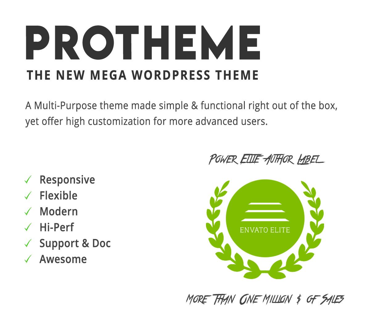 Protheme - Mega Multi-Purpose WordPress Theme