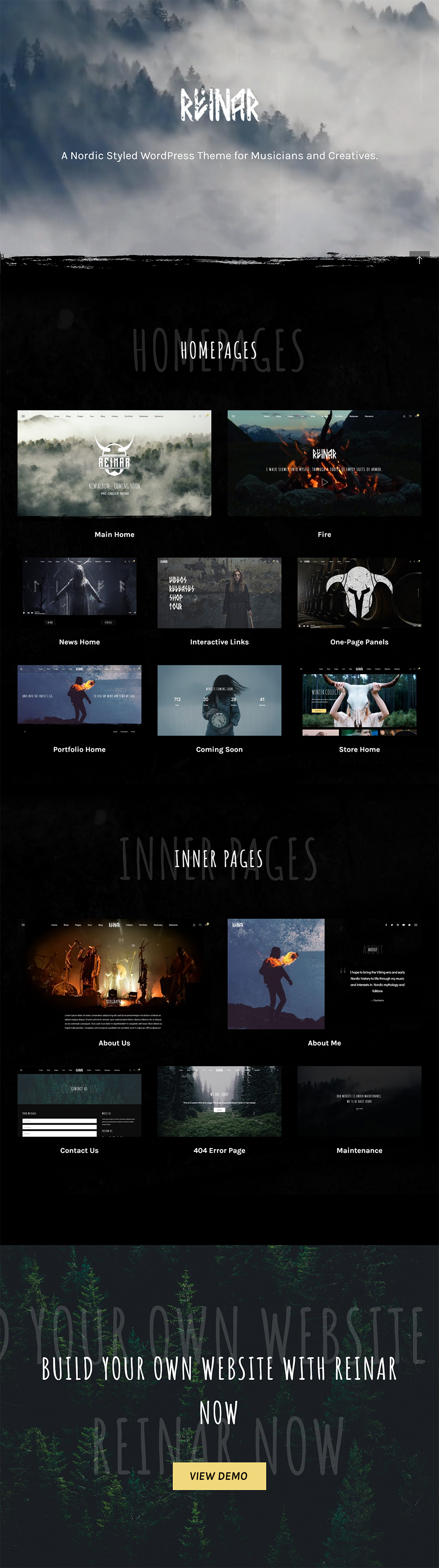 Reinar Presenation  Download Reinar – A Nordic Inspired Music and Creative WordPress Theme nulled pres